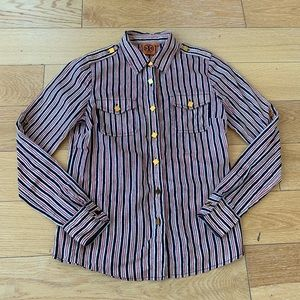 Tory Burch Striped Button Up